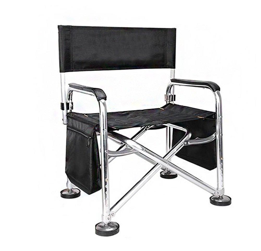 YJchairs Zusammenklappbare Stühle, Fischen-Stuhl mit Zubehör-Bett-Tasche mit Seitenbehälter-Karpfen-faltenden Schemeln
