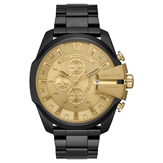 Image Unavailable. Image not available for. Colour  Diesel Mens Mega Chief  Black Ion Plated Steel Bracelet ... c4a35063d84