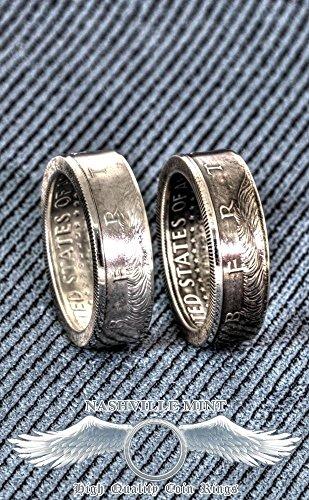 1964 Silver Coin Ring Handmade 64 Jfk Kennedy Us Half Dollar