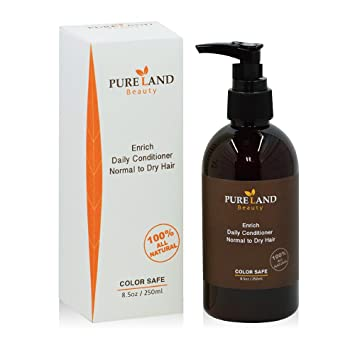 Amazon.com   Pureland Beauty Enrich Daily Conditioner - Natural Hair  Conditioner for Normal To Dry Hair - Sulfate-Free and Plant-Based - 8.5  Ounce   Beauty 98efffdac