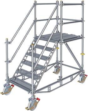 Escalera con plataforma móvil para diferencia de 1 m: Amazon.es: Bricolaje y herramientas