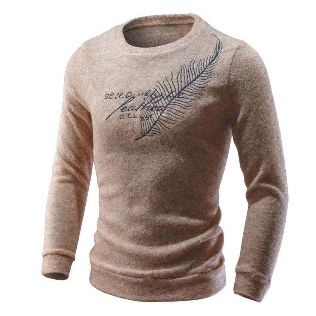 Resplend Hombres otoño Invierno Casual Letras suéter Tejer suéter Tops Blusa: Amazon.es: Ropa y accesorios