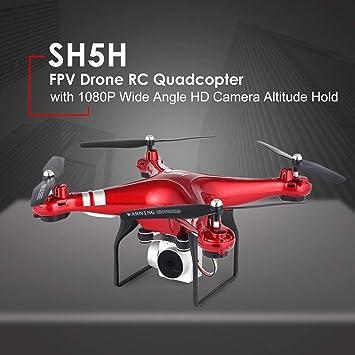 SH5H 2.4g Drone FPV con 1080p Gran Angular HD Cámara WiFi Vídeo en ...