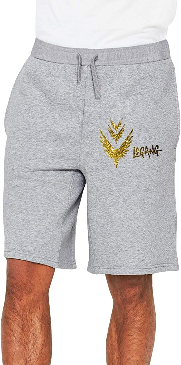 Golden Parrot Custom Gold Background Mens Casual Classic Fit Short Joggers Short Summer Beach Shorts