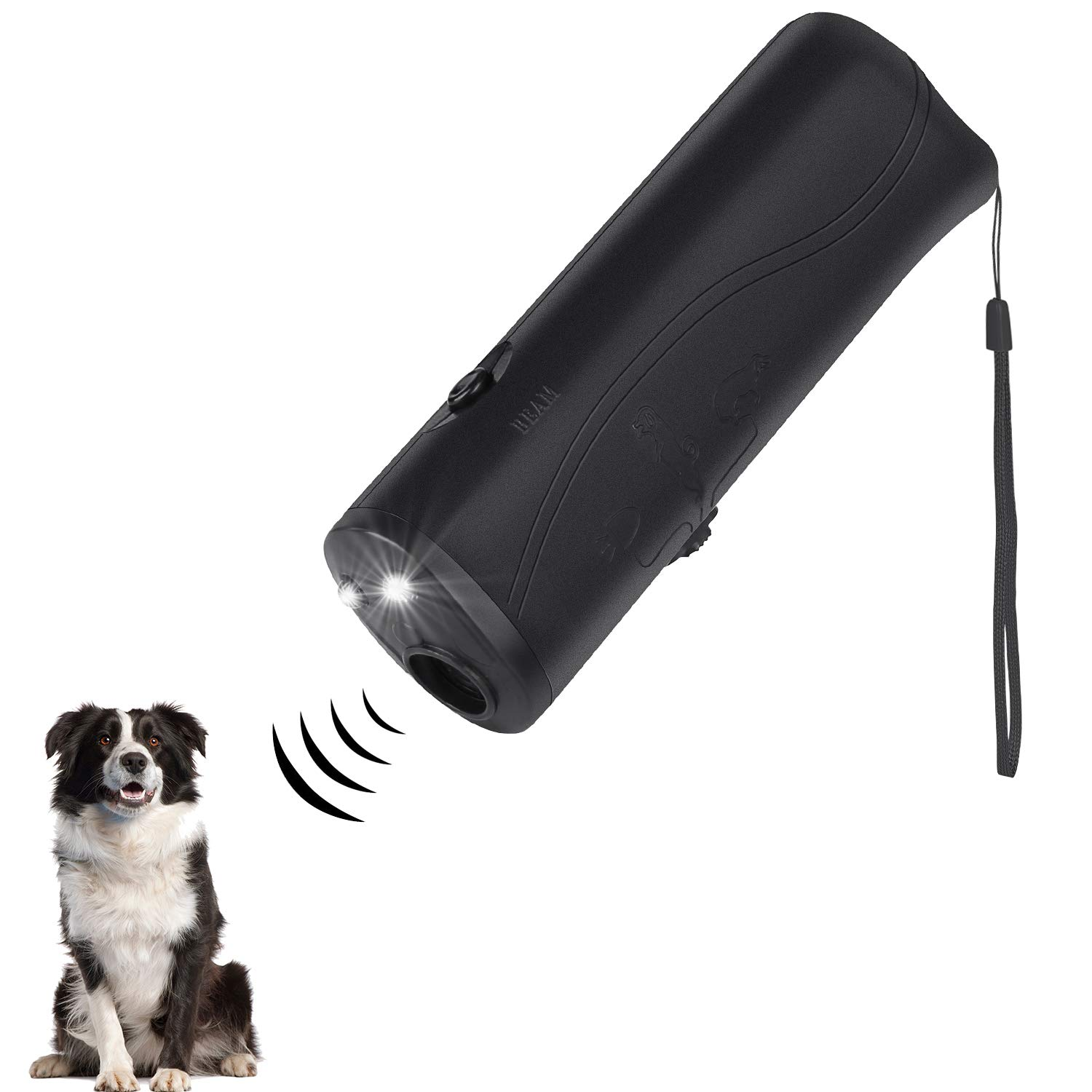 ONSON Ultrasonic Dog Repeller Trainer Device 3 in 1 LED Pet Anti Barking Stop Bark Handheld