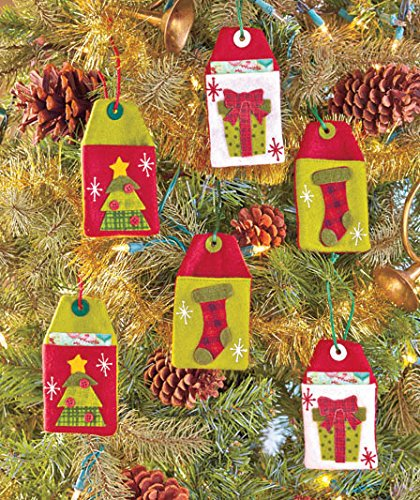 Amazon.com: Christmas Tree Decor Gift Card Holder Felt Tags Set of 6 ...