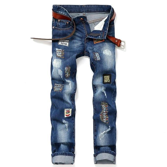 Huixin Pantalones Vaqueros De Mezclilla Hombres Hombres ...