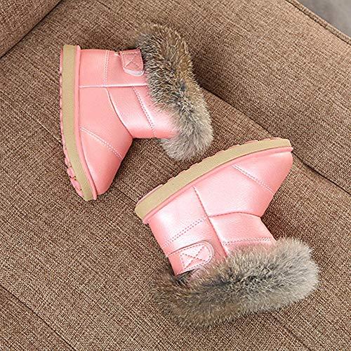 Bebe Rosa De Peludo Zapatos Cuero Botas Decoracion Niñas Nieve Invierno Cálidos Con Oq6H7ZwT