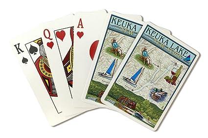 Lefebvre lago, nueva york - Carta náutica (Playing Card Deck ...