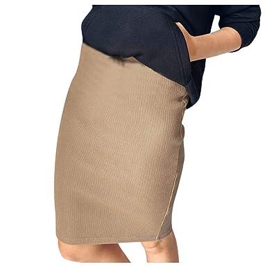 beautyjourney Falda de Punto Bodycon para Mujer Falda de Cadera ...