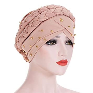 Amorar Bufanda hindú Musulmana Hijab para Mujer Gorra Turbante con Trenzas y Gorras Gorras con Gorro de cáncer: Amazon.es: Deportes y aire libre