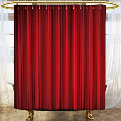 . Amazon com  SOCOMIMI Large home decoration Red closed curtain with