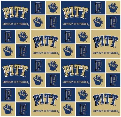 Amazon Com University Of Pittsburgh Panthers Cotton Fabric 100 Cotton University Of Pittsburgh Panthers Fabric Sold By The Yard University Of Pittsburgh Panthers 20 Sykel College Cotton Fabric