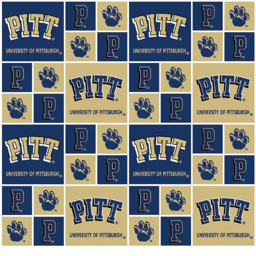 UNIVERSITY OF PITTSBURGH PANTHERS COTTON FABRIC-100% COTTON -UNIVERSITY OF PITTSBURGH PANTHERS FABRIC SOLD BY THE YARD-UNIVERSITY OF PITTSBURGH PANTHERS#20 SYKEL-COLLEGE COTTON FABRIC