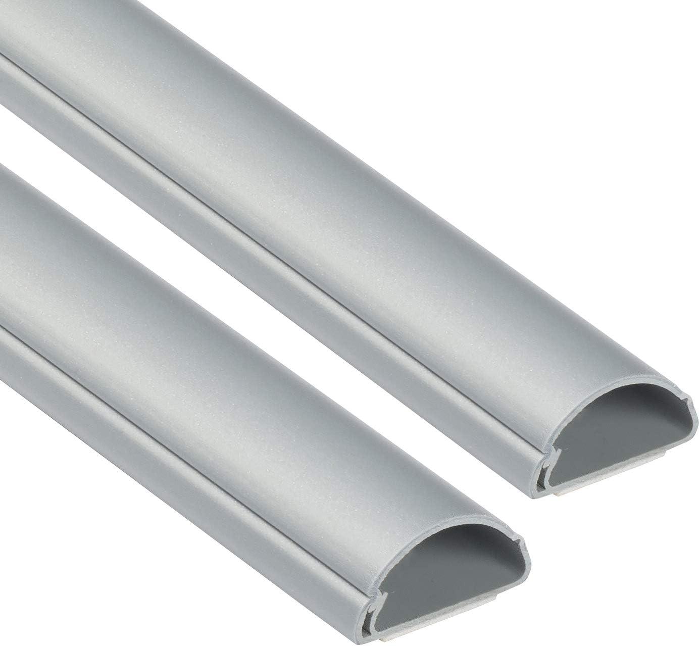 D Line 1d3015a 2pk Mini Kabelkanal Zur Kabelführung Kabelleiste 2 X 30x15 Mm 1 M Länge 2 Meter Aluminium Effekt Garten
