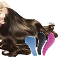 CHOUREN Magic Detangling Handle Tangle Shower Hair Brush Comb Salon Styling Tamer Tool,Variation:Black