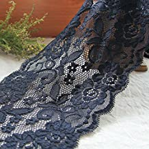Dim Grey 5 Yards Grace Stretch Lace Edge Trim Fabric Ribbon Wedding Underwear Craft DIY 5 7/8 Inches Wide