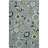 Safavieh Four Seasons Collection FRS482B Hand-Hooked Blue and Multi Indoor/ Outdoor Area Rug (8' x 10')