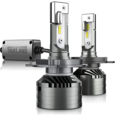 H4/9003 LED Headlight Bulbs A4 Series Conversion Kit 10000LM Super Bright 6000K 9003 LED lamp Bulb H4 Hi/Lo Beam Anti-Flickering Canbus Decoder Top CSP IP67 Silent Fans: Automotive
