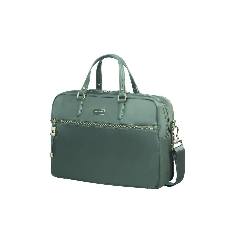 Gunmetal Green SAMSONITE Karissa Biz 16 liters 41 cm Green 2-Compartment Laptop Briefcase 15.6 Briefcase