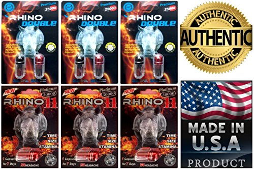 Performance Rock Pack (Rhino Best Sexual Male Performance Enhancement Pill Variety Pack (Double(3)Rhino11(3)))