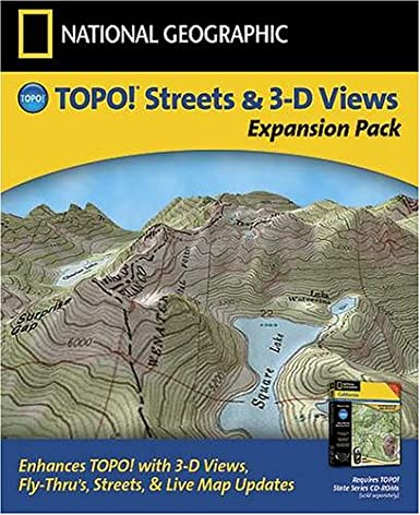 Amazoncom National Geographic TOPO Expansion Pack US Streets - Ographic map us