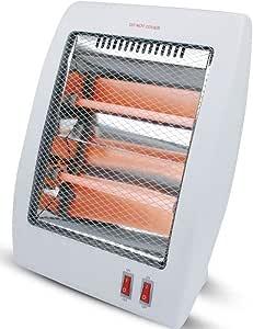 Unique Imports #1 Smart 800 Watt Quartz Heater Table Top Heat Portable & Adjustable Heat Royal - Safety Tipover Protection