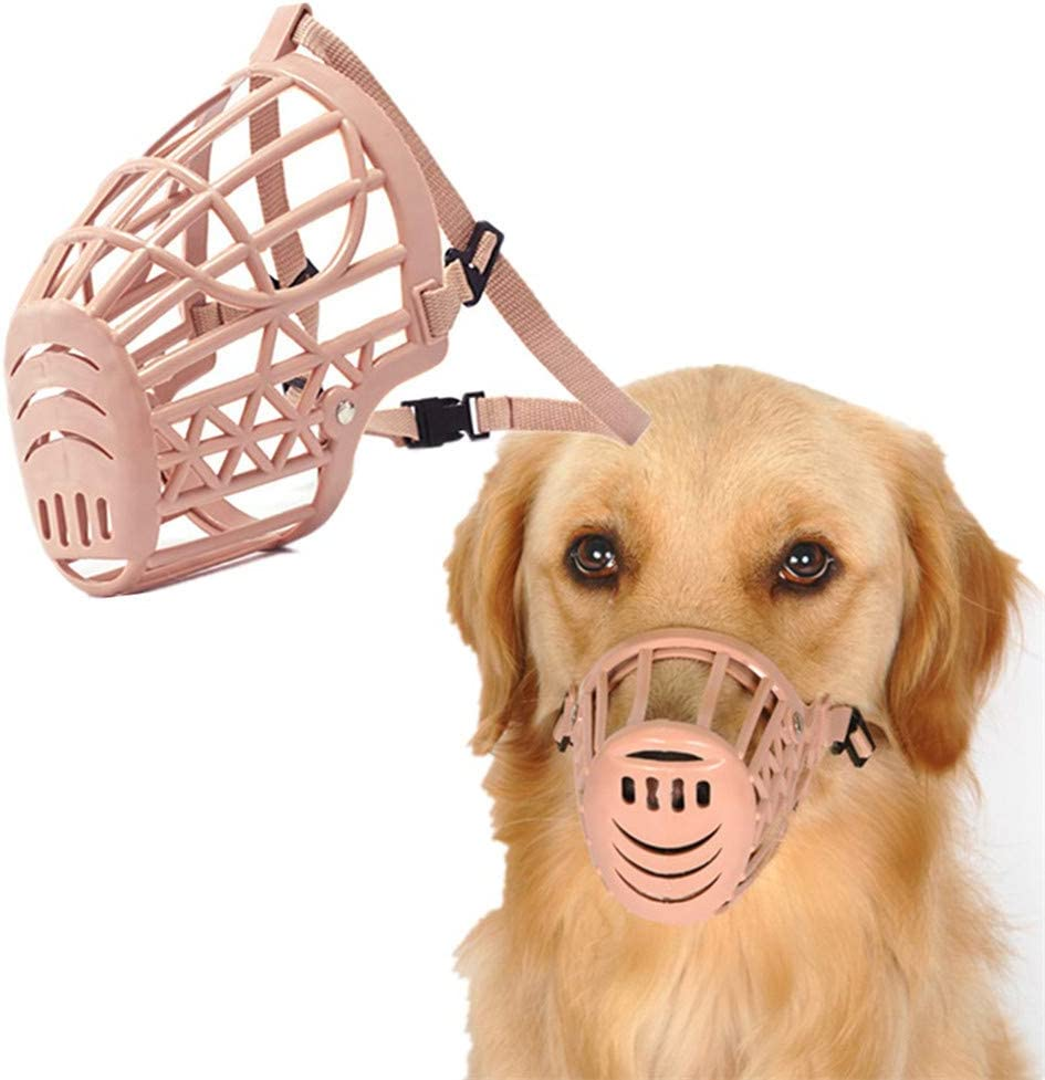 KinderALL Muzzle For Dogs Dog Muzzle Medium Muzzle For Large Dogs Soft Muzzle Dog Muzzles To Prevent Barking Dog Muzzle Small Pet Muzzle beige,size-2