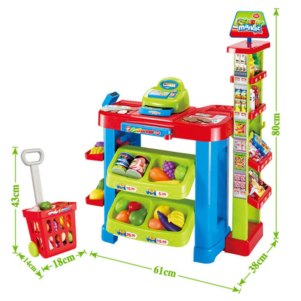 Supermarket Pretend Toy Cash Register Pretend Toy with Sound and Light ,Fun Super Market Pretend Play Toy ,Holiday Birthday Gift ,Kids Educational Creative Toys,Simulation Game Supermarket by lUKSY US-Direct (Image #4)
