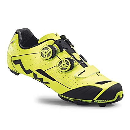 Northwave 2016 Mens Extreme XC Mountain Cycling Shoes - Yellow Fluorescent (Yellow Fluorescent - 38