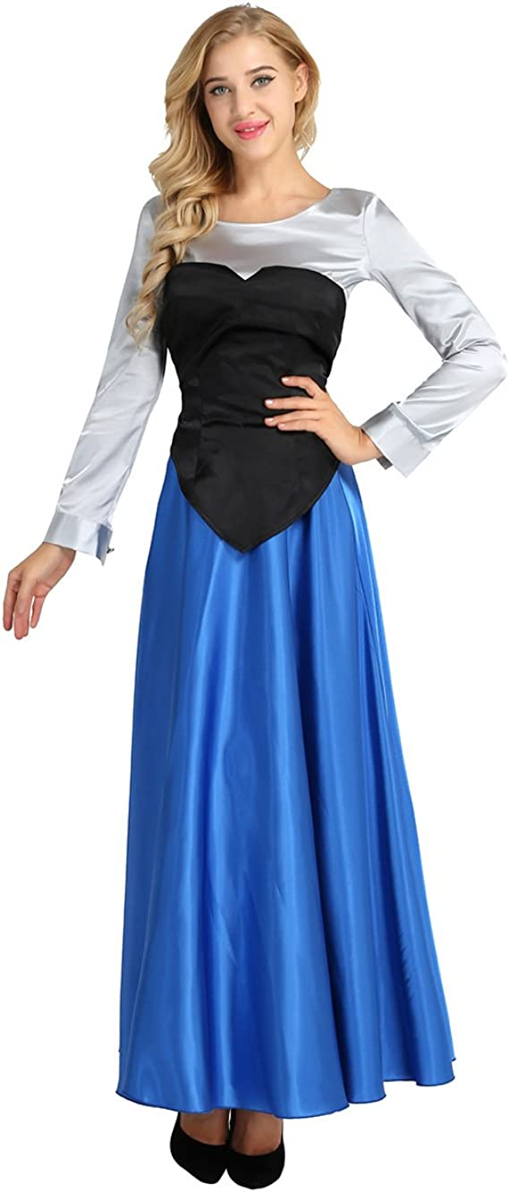 Freebily Vestido de Sirenita Cosplay Traje de Princesa Halloween ...