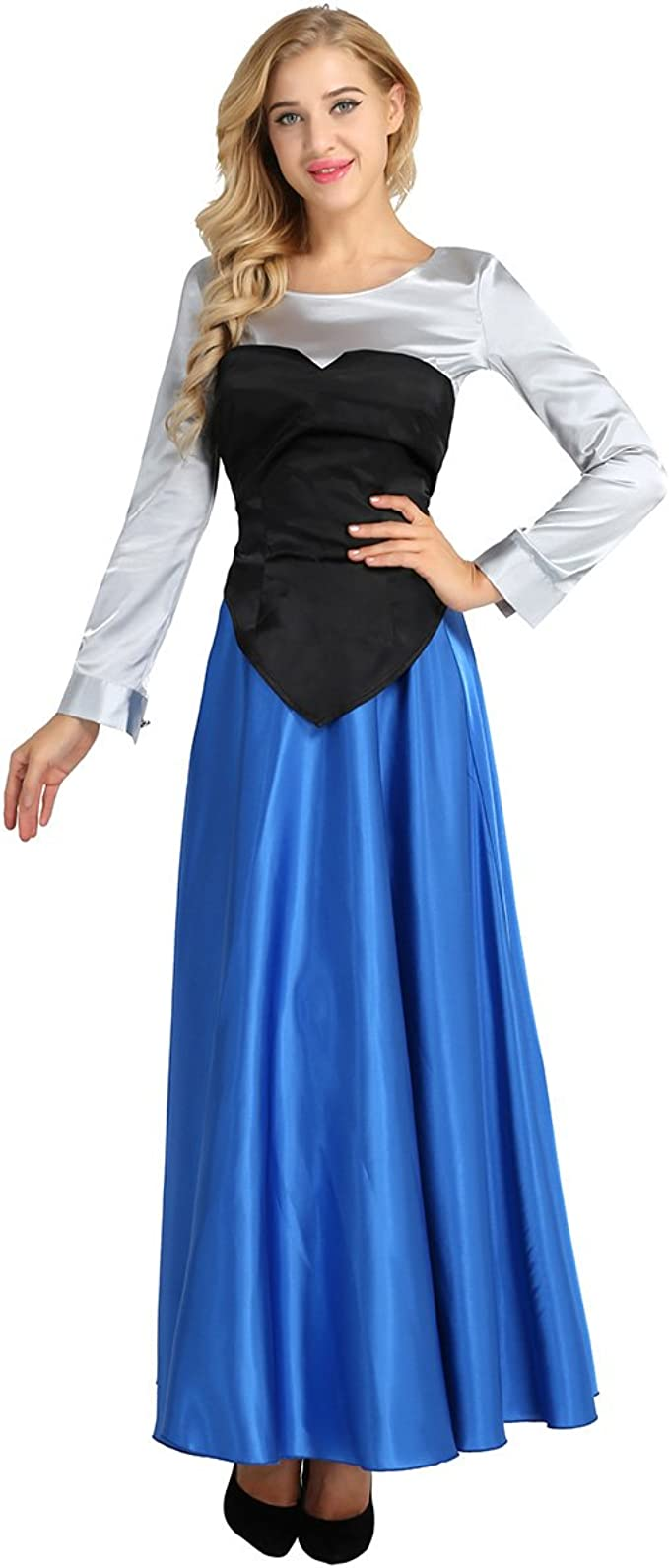inlzdz Mujer Disfraces de Princesa para Carnaval Fiesta 3PCs ...
