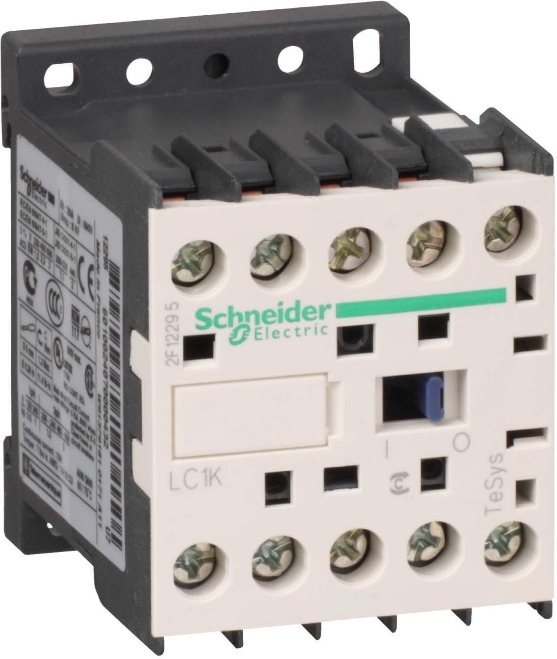 Schneider Electric LC1K0910E7 Contactor 9A 48V, Contactor-3No 9A Ac3 Poles