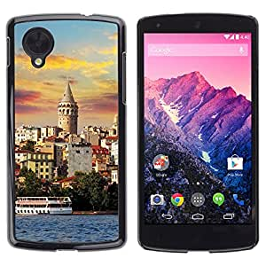 Hot Style Cell Phone PC Hard Case Cover // M00103425 places boat city // LG Nexus 5