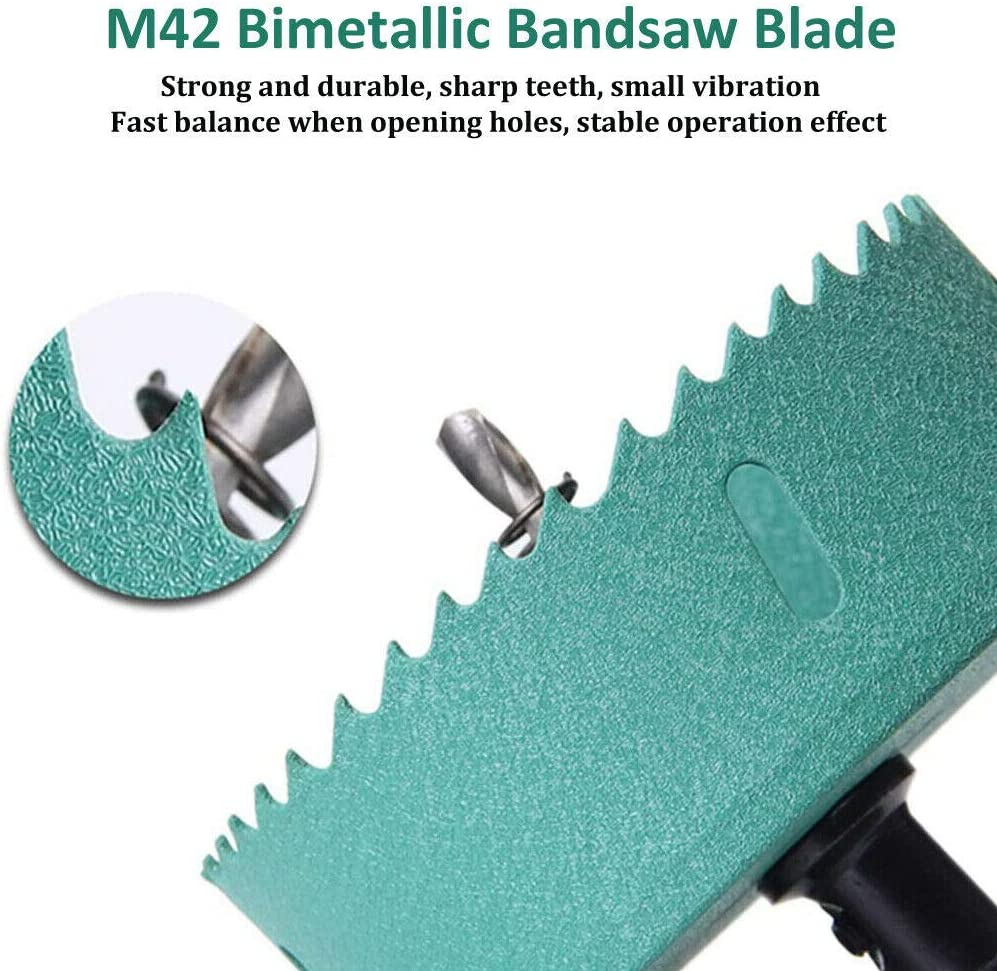 Deylaying M42 HSS Bi-Metal Sierra de agujero de 155mm herramienta de corte de abridor de agujero para madera Aluminio Hoja de hierro Tubo Pl/ástico