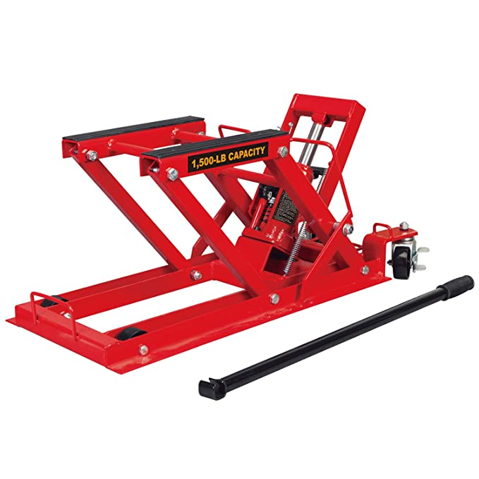 Torin Big Red Motorcycle / ATV Jack: 3/4 Ton (1,500 lb) Capacity