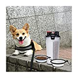 EDUPLINK Dog Travel Water Bottle - 2 in 1