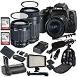 Canon EOS Rebel T6i Digital SLR Camera with Canon EF-S 18-55mm f/3.5-5.6 IS STM Lens + Canon EF-S 55-250mm f/4-5.6 IS STM Lens + 2pc SanDisk 32GB Memory Cards + Battery Grip Review