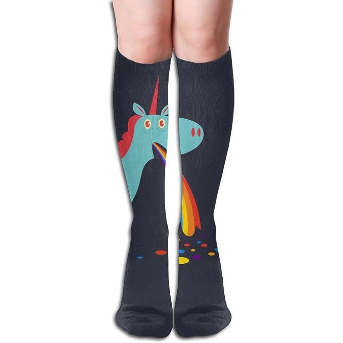 44e1ad57626 Amazon.com  Cute Unicorn Rainbow Knee High Socks Hiking Long Socks ...