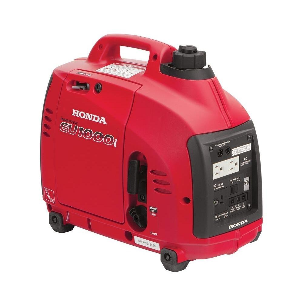 Honda Super Quiet Gasoline Portable Generator With Inverter (1000Watt With Eco-Throttle And Oil Alert)