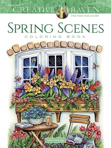 Coloring Books for Seniors: Including Books for Dementia and Alzheimers - Creative Haven Spring Scenes Coloring Book (Creative Haven Coloring Books)
