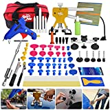 Super PDR 60pcs Auto CAR Body Paintless Dent Removal Repair Tool Kits PDR Gold Dent Lifter 2 in 1 Slide Hammer with boxs