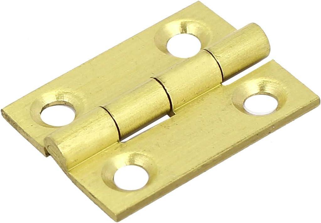 sourcingmap/® Bo/îte bijoux de roulement en laiton or charni/ère porte bout 25mm 1 Longueur 81 cm