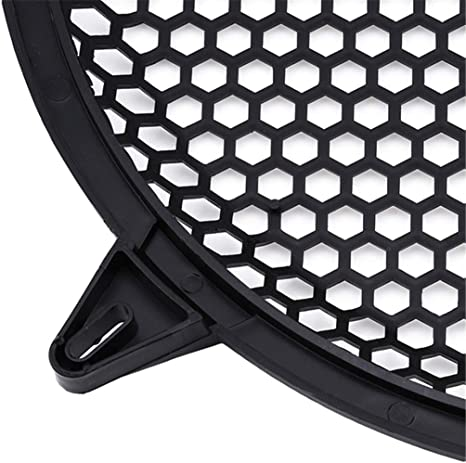Auto Speaker Parts Car Audio Sub Woofer Grille with 4 Mounting Brackets Waffle Grill Cover Guard Protector Grille 1 Pcs,Black,6 GUAngqi Speaker Subwoofer Grill Protective Cover