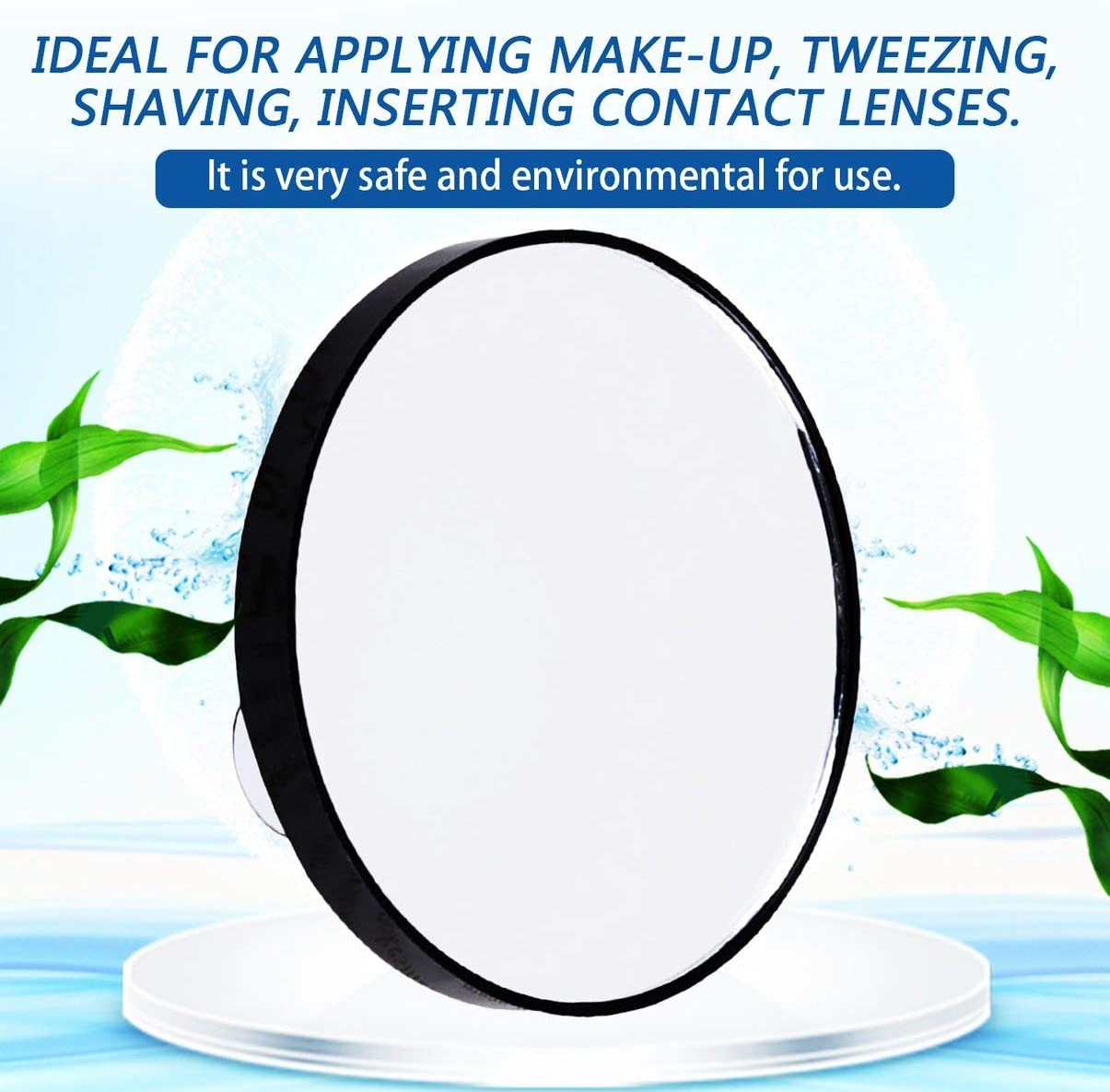 FHJZXDGHNXFGH-UK Mini Round Makeup Mirror 5X 10X 15X Magnifying Mirror With Two Suction Cups