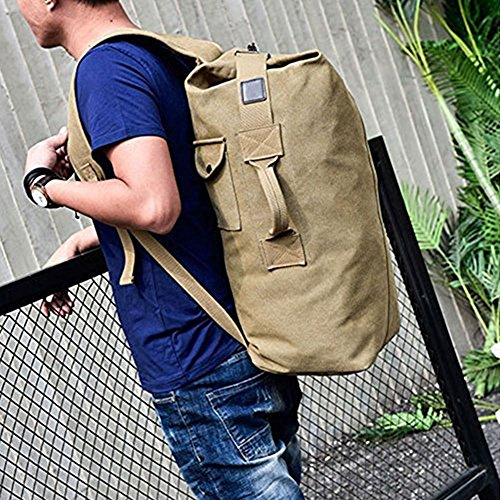 Top Loading Duffle - Men Vintage Canvas Rucksack bag Travel Large Multi-Functional outdoor backpack