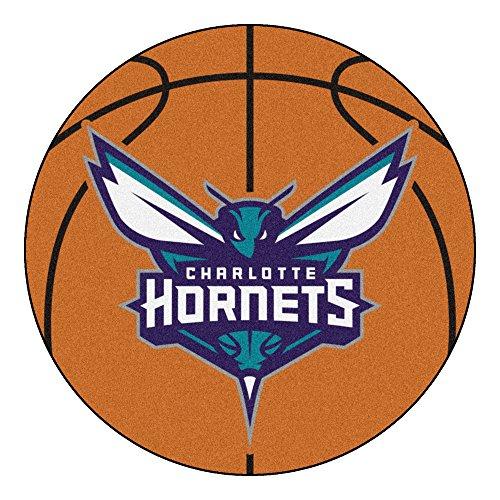 Charlotte Basketball Rug - Fanmats NBA Charlotte Hornets Nylon Face Basketball Rug