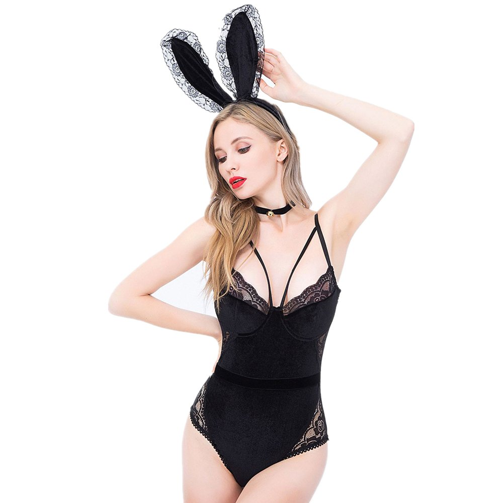Amazon.com: TOMORI Womens Naughty Bunny Outfit Sexy Cosplay Lingerie Set  for Sex Party Fancy Costumes: Clothing
