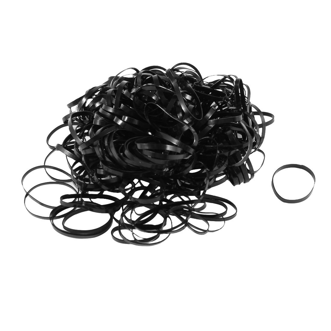uxcell 255 Pcs Black Elastic Ponytail Holders Hair Rubber Bands for Girl Lady a13110400ux0156