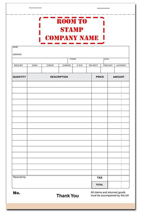 amazon com cash receipt book blank purchase order forms office